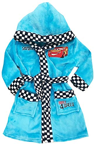 Disney Cars Bademantel Kimono Gürtel Kapuze Morgenmantel Speed blau ()