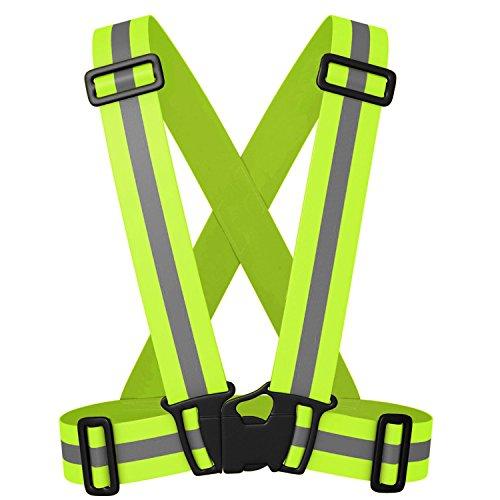 Siensync Reflektorweste, einstellbare elastische Sicherheitsweste für hohe Sichtbarkeit in Abend und Joggen Laufen Radfahren Wandern