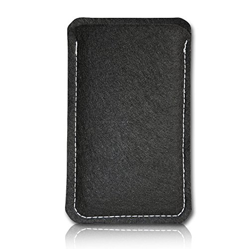 Filz Style Mobistel Cynus E4 Premium Filz Handy Tasche Hülle Etui passgenau für Mobistel Cynus E4 - Farbe schwarz