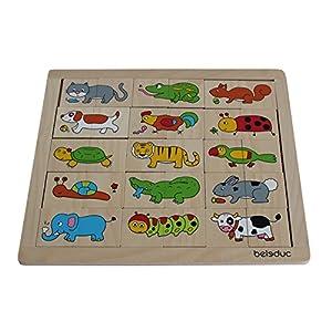 Beleduc 11006-Match y combinación Animales Puzzle