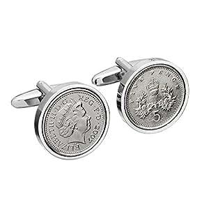 11th Anniversary - 2007 Anniversay Cufflinks English Five Pence cufflinks