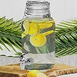Getränkespender 4 Liter Ø14xH32cm inkl. Zapfhahn Saftspender Wasserspender Glaskrug Getränkeflasche