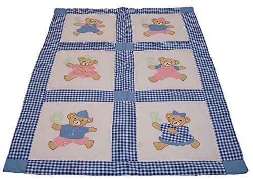 Preisvergleich Produktbild Kinder Patchwork Applikation Teddy Bär OK Baby Decke Q10