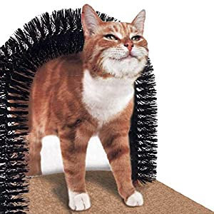 Purrfect Arch Cat Self Groomer Massager Catnip Bristles Pet Kitten Scratcher
