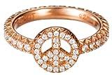 Esprit Damen-Ring 925 Sterling Silber rhodiniert Kristall Zirkonia brilliance peace rose weiß