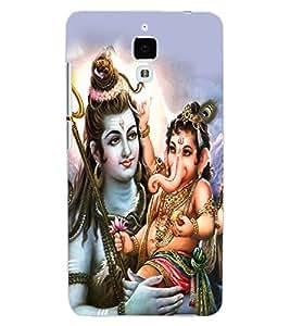 ColourCraft Lord Shiva With Ganesha Design Back Case Cover for XIAOMI MI 4