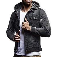 7cc20505750b26 Kanpola Herren Kapuzenjacke mit Reißverschluss Kapuzenpullover Sweatshirt mit  Kapuze Mantel Outwear Zip Sweatjacke Jeanshemd Kapuzensweatshirt Sportjacke