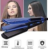 Techhark 2 in 1 Professional Feel Neo Tress Pro Hair Crimper & Straightener for Girls (Blue)