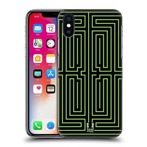 Head Case Designs Labirinto Labirinti Cover Retro Rigida per Apple iPhone X Labirinto