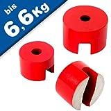 Magneti in AlNiCo | Magneti Button Ø 13mm - Ø 31,8mm | AlNiCo | rosso | fino a 180 ° C, Grandezzas:Ø 31.8mm | 6.6kg forza