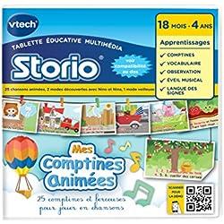 Vtech - 233305 - Storio 2 et générations suivantes - Jeu éducatif - Mes Comptines Animées Avec Nino Et Nina