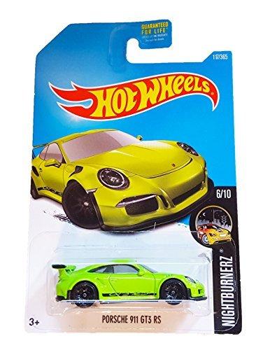Hot Wheels 2017 Nightburnerz Porsche 911 GT3 RS 117/365 neongrün