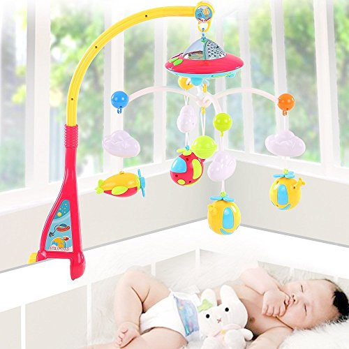 Toyshine Dreamful Bed Ring Cot Mobile with Music, Lights