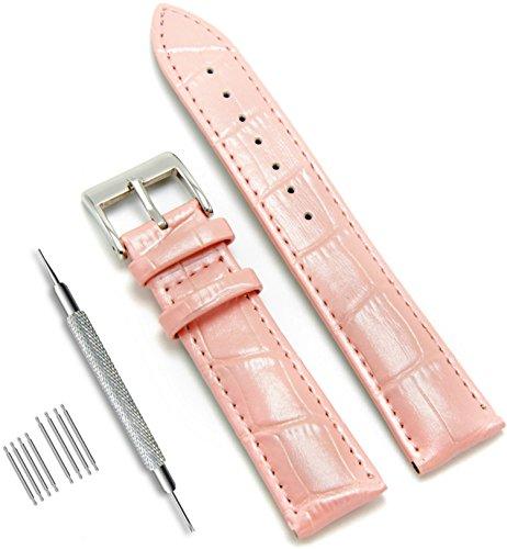 CIVO Uhrenarmband Echtes Leder Armband Top Kalbsleder 16mm 18mm 19mm 20mm 22mm 24mm Uhrband für Herren Damen (Band 24mm Uhr Leder)