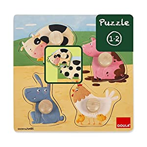 Goula - Puzzle Animales Granja Color (Diset 53069)