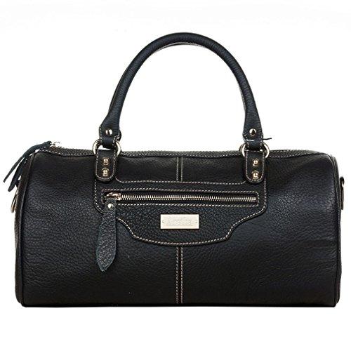 aretha-frauen-kissen-echtem-kuh-leder-baguette-handtasche-schwarz-schwarz-gre