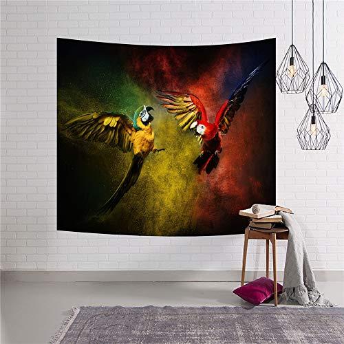 Comeyang Wandteppich, Mandala-Wandbehang, Bohemian-Wanddekor Geschenk Hippie Wandteppiche Mandala Tagesdecke,Tapisserie Strandtuch Tierwelt 11 153x130cm