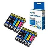 ECSC kompatibel Tinte Patrone Ersatz für Epson XP510 XP520 XP600 XP605 XP610 XP615 XP620 XP625 XP700 XP710 XP720 XP800 XP810 XP820 26XL (Schwarz/Photo-Schwarz/Cyan/Magenta/Gelb, 10-Pack)