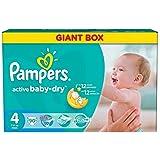 """Pampers Windeln Active Baby Dry Maxi Gr. """"4"""" 7-14 Kg Bis zu 540 Stk"""