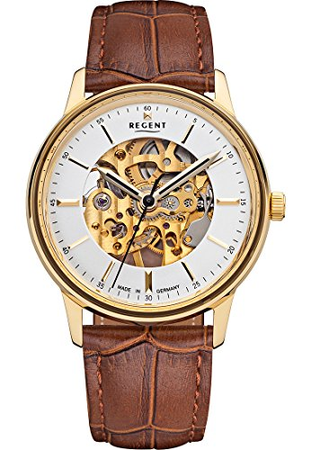 regent-herren-armbanduhr-analog-handaufzug-one-size-beige-creme-braun