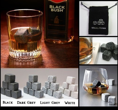9pcs-whisky-ice-stones-drinks-cooler-cubes-whiskey-scotch-on-the-rocks-granite-colours-available-bla