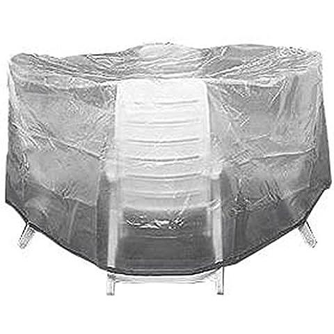 Fun Star Standard - Funda de polietileno para muebles de jardín (320 cm), transparente