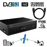 Crypto ReDi S100PH DVBS2 Satelliten receiver für öffentliche Sender( PVR-Ready,DVBS2, Full HD, HDMI, Dolby Digital, SCART, USB 2.0,LNB IN/OUT, Koaxial, Mediaplayer, Fernbedienung) mit HDMI Kabel 1 Meter