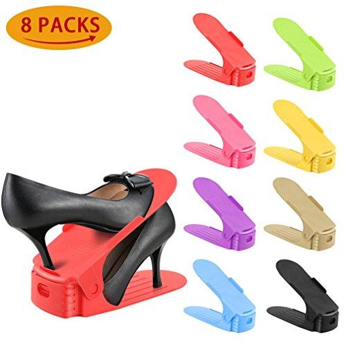 Organizador Zapatos, 8 Piezas Ranura Zapato Rack ajustable