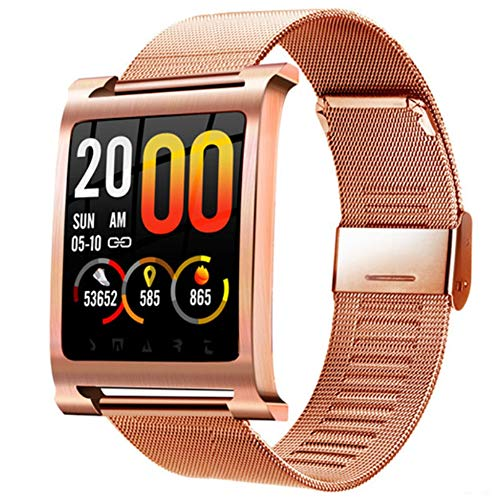 Linbing123 1,3-Zoll-Full-Screen-Touch Bluetooth Smart Watch Fitness-Tracker, Sport Watch Touch Screen Camera Pedometer Sleep Monitor Call/Message Reminder Music Player,006