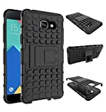 CEDO Premium Hybrid Military Grade Armor Kickstand Back Cover Case for Samsung Galaxy J5 Prime - Black