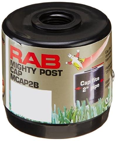 RAB Lighting MCAP2B Mighty Post Cap for 2 Pipe, 2-3/8 OD x 2-3/4 Height, Black by RAB Lighting