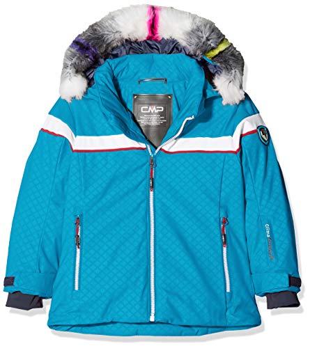 CMP Mädchen Wattierte 7000 Eco Fur Skijacke Jacke, Blue Jewel, 128