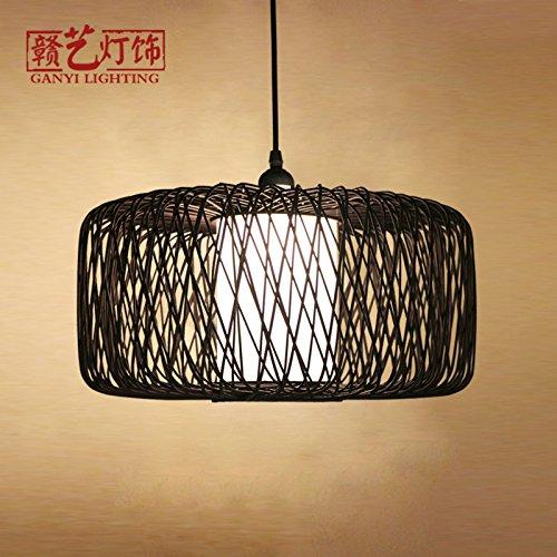 XBR Beleuchtung der Beleuchtung Kreative dem neuen Restaurant Chinesisch Antik Japanisch Persönlichkeit Kreative aus Bambus., Aucune Source Lumineuse, 40 * 25cm (noir) (Home-source-bambus)