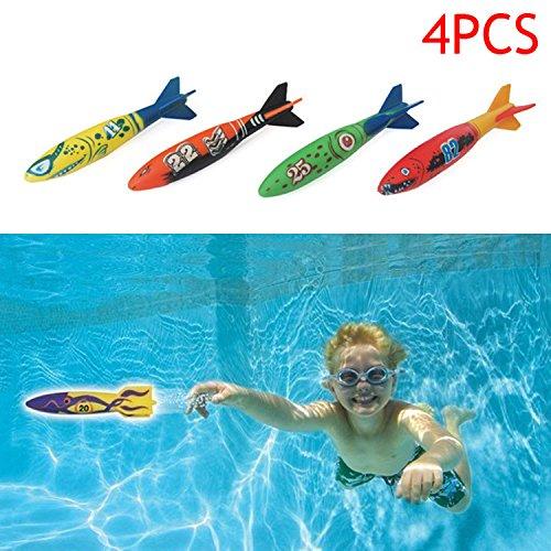 Wildlead Kinder Torpedo Spielzeug Kind Junge Mädchen Rakete Throw Torpedos Bandits Spielzeug Für Schwimmbad Tauchen Unterwasser Spiel