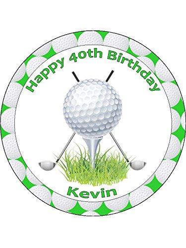 Golf 2personalisierbar Pre Zuckerguss Kuchen Topper (7,5 (Pre-golf-clubs)