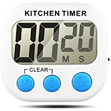Timer da cucina, Senhai conteggio up / down grande Display