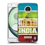 Head Case Designs L'Inde Points De Repère Chromatiques Étui Coque D'Arrière Rigide Pour Motorola Moto Z Play / Droid