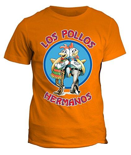 Tshirt Breaking Bad - Los pollos Hermanos - Heisenberg - meth serie tv - telefilm - in cotone by Fashwork Arancione