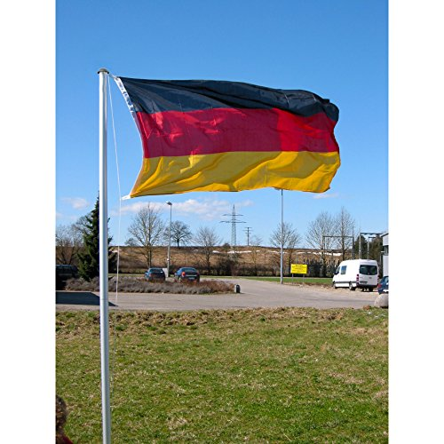 fahnenmast 3m Teleskop Fahnenmast 4m Alu & Deutschland Fahne
