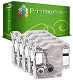5x Schriftband kompatibel für Dymo D1 45803 Schwarz auf Weiß (19mm x 7m) für DYMOLabelManager LM300, LM350, LM350D, LM360D, LM400, LM420P, LM450, LM450D, LM500TS, LMPC, LMPC II, LMPnP Wireless, LabelPoint LP150, LP250, LP300, LP350, LW400 Duo, LW450 Duo Etikettendrucker