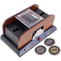 Homyl Mezclador Automático Electrónico Automático para Cartas Póker con Dealer Botón - barajador w/ dealer, big blind, small blind