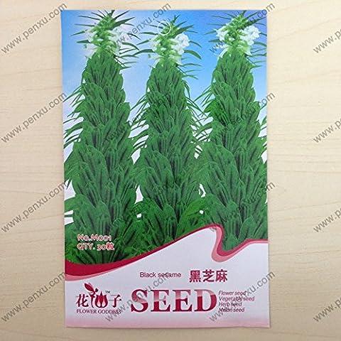 semi-ingrosso confezione originale Crop seedsBlack sesamo seedsFlowering costantemente alta,, 30particles semi / bag