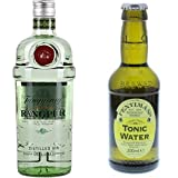 Tanqueray Rangpur Lime Distilled Gin (1 x 0.7 l) mit Fentimans Tonic Water, 12er Pack (12 x 200 ml)