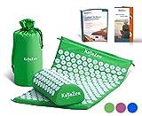 KayaZen Akupressur Set inkl. E-Book & Anleitung - Akupressur-Matte & Akupressur-Kissen - gegen Nacken- & Kopfschmerzen | grün