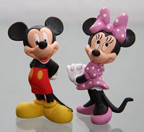 MINNIE MAUS- Figur : MICKY MAUS (MICKEY MOUSE) / ca. 6 cm + MINNIE MAUS / 6,5 cm - Walt Disney ()