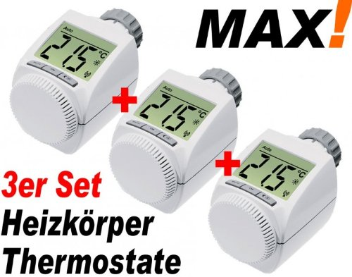 MAX! Heizkoerperthermostat 3er Set -