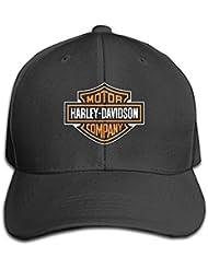 Feruch Unisex Harley-Davidson Logo Adjustable Hat Baseball Cap - Black Black