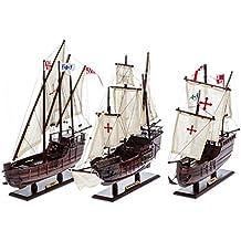 Modello di nave 3x Santa Maria Pinta e Nina flotta Columbus veliero caravella