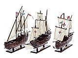 3 Modellschiffe Santa Maria Pinta und Nina Flotte Kolumbus Segelschiff Karavelle