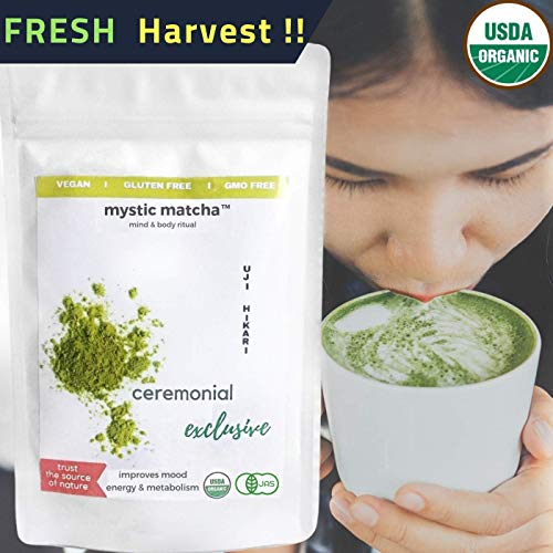 ORGANIC JAPANESE MATCHA - 100g - Green Tea Powder Exclusive Ceremonial by MysticMatchaTM